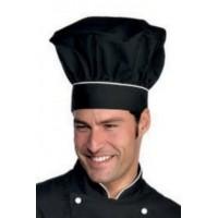 Cappello cuoco nero+bianco