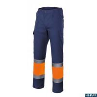 Pantaloni bicolore alta visibilità