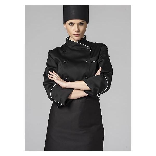 Giacca cuoco donna nera 45b1619bac36