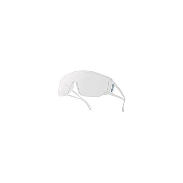 Venitex Piton2–Occhiali monoblocco in policarbonato incolore fuori UV400 eQXLTS70